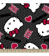 Sanrio Hello Kitty Print Fabric-Ideas Poplin
