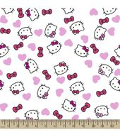 Sanrio Hello Kitty Print Fabric-Headshot Poplin