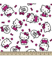 Sanrio Hello Kitty Print Fabric-Quote Poplin