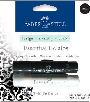 Faber-Castell design-memory-craft Mix & Match Gelatos Stick 2/Pkg-Black & White