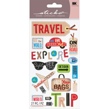 Sticko Classic Stickers Happy Traveling