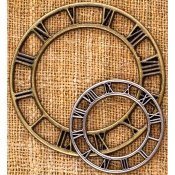 Prima Marketing Sunrise Sunset Metal Trinkets Vintage Clock Face small