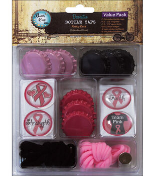 Vintage Collection Bottle Caps Value Pack-Go Pink