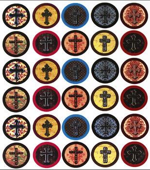 """Vintage Collection Custom Bottle Cap Images 1"""" 65/Pk-Crosses"""