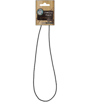 """Vintage Collection Necklace Ball Chain 18""""-Black 1.5mm"""