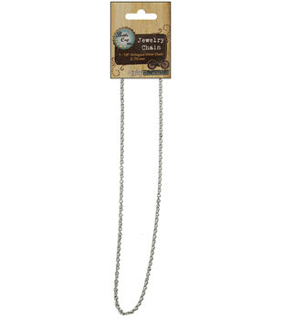 """Vintage Collection Necklace Chain 18""""-Antiqued Silver 2.75mm"""