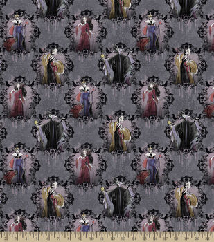 Disney villains portrait fleece fabric
