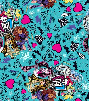Monster high skeleton crew fleece fabric for Monster high material fabric