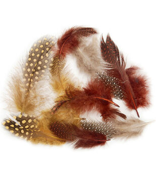 7 gr. Dyed Guinea Feathers-Earth