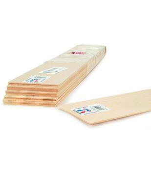 Balsa Wood Sheet 24''-1/4''X3''