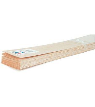 Balsa Wood 36'' Sheets-15PK/1/8''x4''