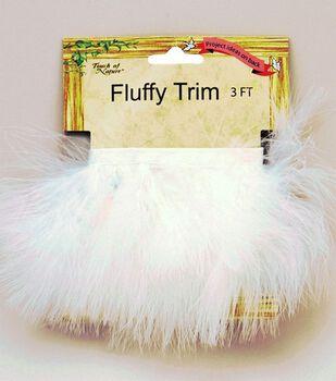 Marabou Feather Trim Tape-White