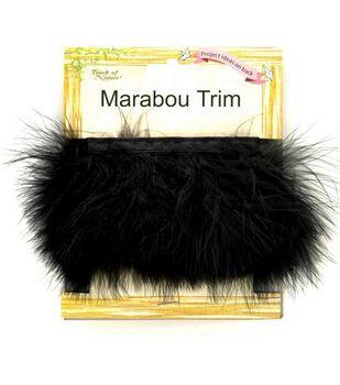 Marabou Feather Trim Tape-Black