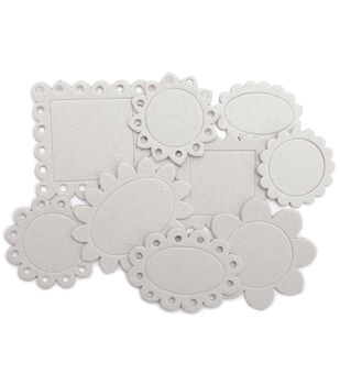 Maya Road Chipboard Set Scallop Frames