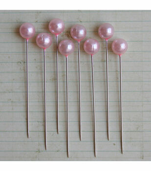 Maya Road Vintage Pearl Ball Pins Pale Pink