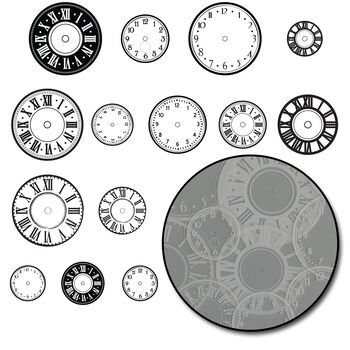 Maya Road Transparencies Die-Cuts Time Flies Clock White