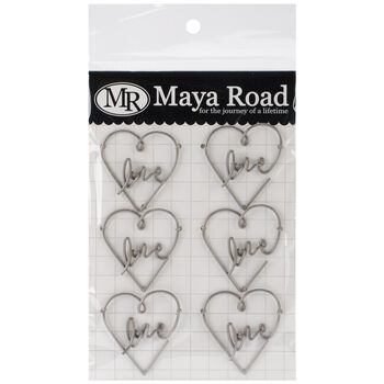Maya Road Vintage Metal Trinkets Love Heart Clip