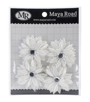 Maya Road Lace Mums - Vintage Trinket Alterable Flowers