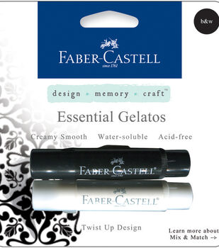 Faber-Castell design-memory-craft Mix & Match Gelatos Stick 2/Pkg-Black & White