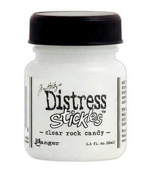 Tim Holtz Distress Stickles Glitter Glue 1.1 Fluid Ounce-Clear Rock Candy