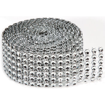 Darice Bling On A Roll Silver 4mm x 2 yards