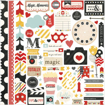 Simple Stories Say Cheese Cardstock Stickers Fundamentals