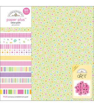 Doodlebug 12''x12'' Paper Plus Pack-12PK/Girls