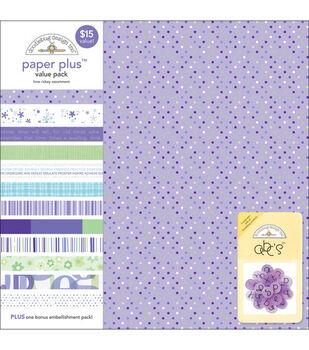 Doodlebug 12''x12'' Paper Plus Pack-12PK/Lime Ricky
