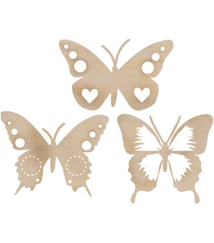 Wood Flourishes-Funky Butterfly