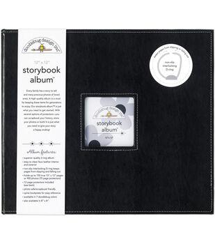 "Doodlebug Storybook Album 12""X12""-Beetle Black"