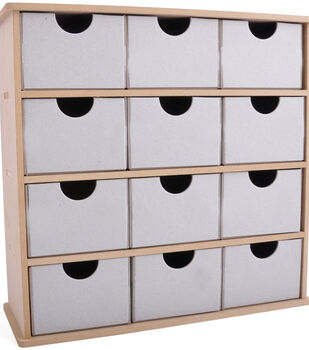 Kaisercraft Beyond The Page MDF Storage Box With 12 Chipboard Drawers