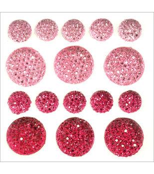 Sparklets Self-Adhesive Rhinestone Clusters-Crimson