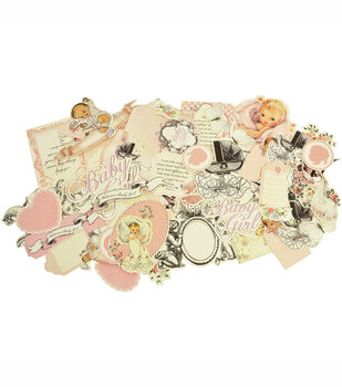 Kaisercraft Bundle Of Joy Collectables Cardstock Die-Cuts Girl
