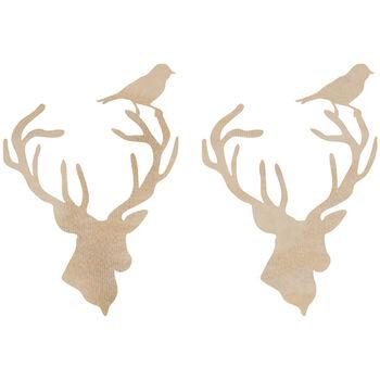Kaisercraft Wooden Flourish Pack Deer Heads