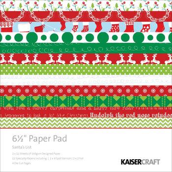 6.5x6.5 -santas Lst Paper Pad