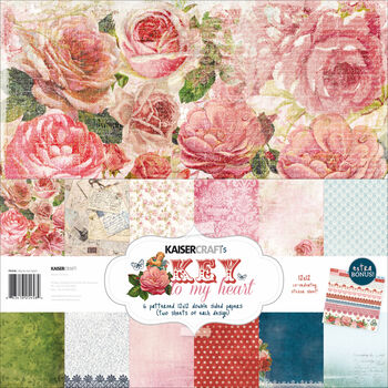 Kaisercraft Key To My Heart Paper Pack and Stickers