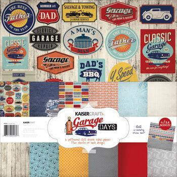 Kaisercraft Garage Days Paper Pack