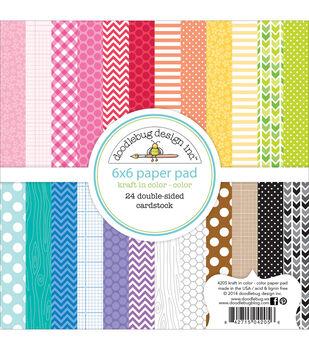Doodlebug Color - Kraft Color Papr Pad