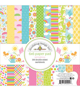 Doodlebug Spring Paper Pad 6X6in