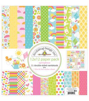 Doodlebug 12X12in - Spring Paper Pack