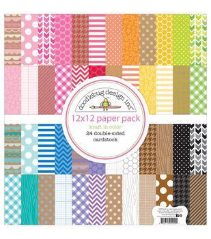 12X12     -Kraft Color Paprpack