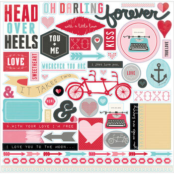 Echo Park Paper Company Head Over Heels Cardstock Stickers Element