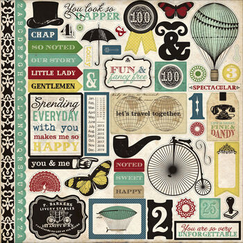 Echo Park Paper Company Times & Seasons 2 Cardstock Stickers Element