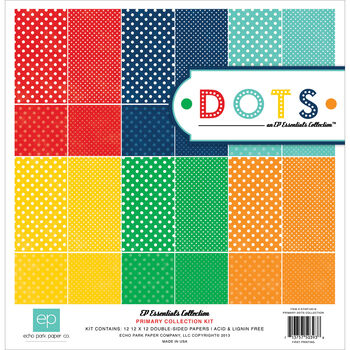 Essentials Dots Primary Collection Double-Sided Papers