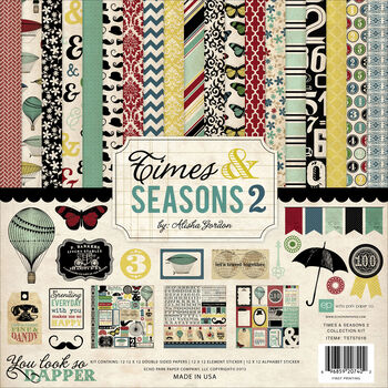 Echo Park Paper Company Times & Seasons 2 Collection Kit