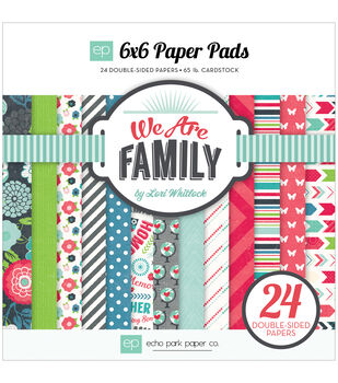 "Echo Park Paper Pad 6""X6"" 24/Pkg-We Are Family"