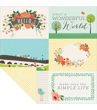"Simple Life Double-Sided Cardstock 12""X12""-Wonderful World"