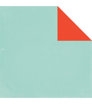 "Simple Life Double-Sided Distressed Cardstock 12""X12""-Light Blue/Red"
