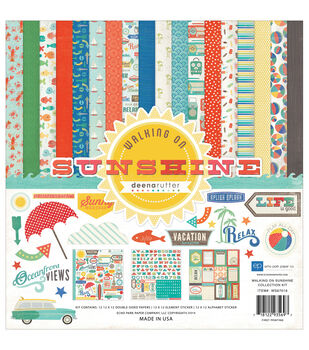 "Echo Park Collection Kit 12""X12""-Walking On Sunshine"