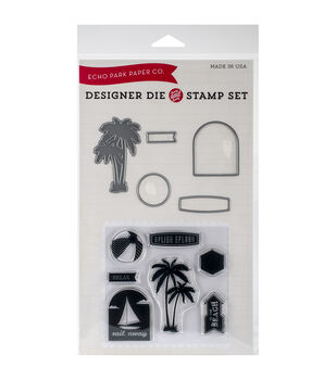 Echo Park Die & Stamp Combo Set-Splish Splash